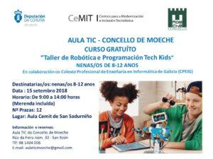 """A Aula TIC de Moeche oferta un taller de """"Robótica e programación Tech Kids"""""""